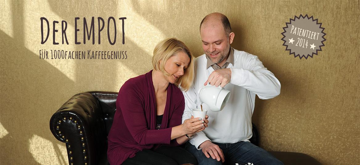 Der EMPOT - die Kaffeemaschine aus Porzellan - für puren Kaffeegenuß